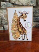 Handmade Personalised Wild Bree Merryn Zoo Giraffe Birthday Card