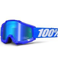100% MX GOGGLE LUNETTE Accuri reflet bleu miroir de MOTOCROSS ENDURO VTT
