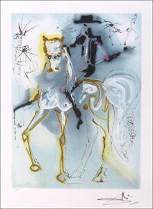 Salvador Dali PICADOR & Horse Facsimile Signed Offset Lithograph & COA