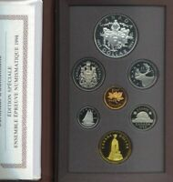 1994 ROYAL CANADIAN MINT DOUBLE DOLLAR PROOF SET - Red case Ltd Edition
