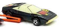 RARE Vintage 1980 Kidco Ferrari Black Glow Burnin Key Car with Launch Key 1/64