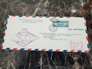 1930 USA Graf Zeppelin Cover Around the World Rear admiral Murray Sueter # C15