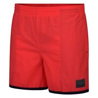 New Men's Speedo Swim Beach Swim Swimming Board Shorts Summer Holidays - Red