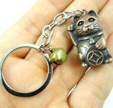 Creative Key Chain Ring Keyring Metal Keychain Gift Tool Lucky Cat Pendant D10