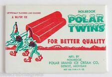 Polar Twins Popsicle FRIDGE MAGNET (2.5 x 3.5 inches) ice cream sign