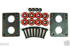 Skateboard 1/4'' Riser Pad + ABEC7 Bearings + Spacers + 1.25'' Hardware