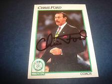 Chris Ford Celtics Villanova 1991 NBA Hoops #222 Signed Authentic Autograph N13