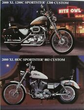 HARLEY Accessory Sheet 2000 XL 1200C Sportster 1200 Custom 883C COLOR PHOTO