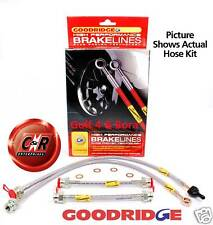 Golf Mk4 Goodridge Braided Brake Hose Lines: FWD: G6.1 - SVW0607-4P - 4 Lines VW