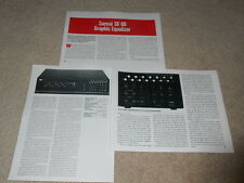 Sansui SE-88 Graphic Equalizer Review, 3 pg, 1988, Full Test, Rare Info!