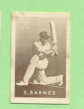 1937  GRIFFITHS  BLACK CROWS COUGH DROPS SWEETS CRICKET CARD - S. BARNES