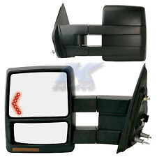 REPLACEMENT DRIVER'S SIDE VIEW TOWING MIRROR W LED SIGNAL EXTENDABLE FORD F150