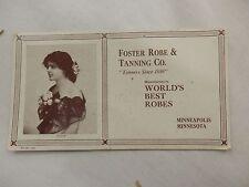 Foster Robe & Tanning Co Minneapolis Minnesota MN ink blotter circa 1900