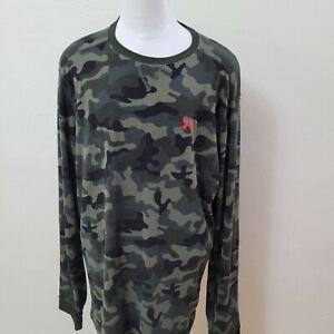 Under Armour Men's Size 3XL Camo Green Coldgear Loose Fit Long Sleeve SweatShirt