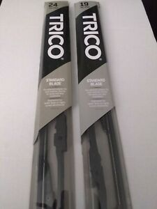 2x Trico Windshield Wiper Blades Size 24 & 19 -Front Left and Right Set 02 24+19
