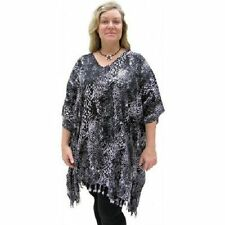 Rayon Animal Print Tunic Tops & Blouses for Women