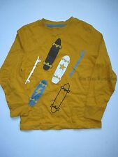 Gymboree Pirate Adventuure Yellow Skateboard Tee Shirt Top Boys 7 NEW NWT