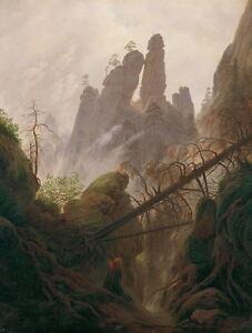 Caspar David Friedrich Rocky Landscape Giclee Canvas Print Paintings Poster Repr
