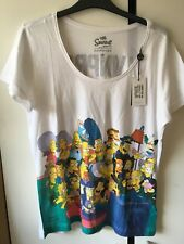 The Simpsons By Matt Groening T-Shirt Top Printed Ladies Size M(12)New