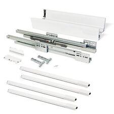 blanco Heavy Duty Full Extension caj/ón Slide 80 kg Capacidad de rodamiento caj/ón Runner caj/ón Rail 1 par 2 piezas