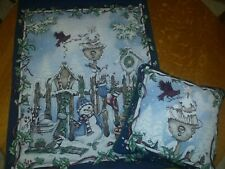 """Christmas tapestry and matching pillow . Tapestry is 35"""" long X 26""""wide."""