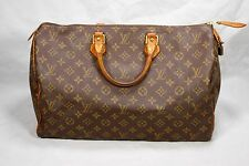 AUTHENTIC Louis Vuitton Monogram Speedy 40 Tote Bag Purse LV M41522