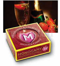 Foreplay Strawberry Champagne Massage Candle Soy Based Hot Wax Long-Lasting Oral
