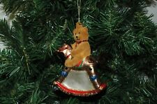 Teddy Bear, Rocking Horse Christmas Ornament
