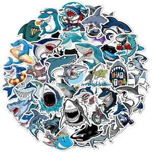 Funny Shark DIY Cartoon Stickers Cute Sea Animal Vinyl Art Decal Kids Sticker 50