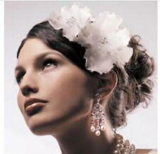 Crystal & Silk Flower Pins For Hair