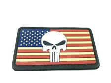 USA Punisher Flag PVC Airsoft Patch