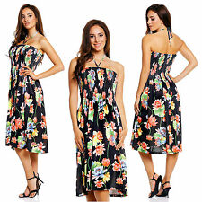 Knee Length Halterneck Summer/Beach Sundresses for Women