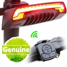Bicycle MTB Bike Rear Remote Wireless Light Turn Signal Laser Beam USB Charging
