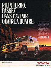 PUBLICITE ADVERTISING 035  1986   TOYOTA  LAND CRUISER  TURBO