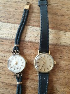 Ladies 9ct Rolex Tudor Cocktail Watch & Ladies Omega