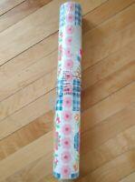 Vintage NOS Warner Co. Wallpaper Dbl  Roll Blue Pink Kitchen Floral 72 sq ft