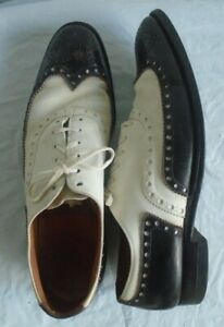 "Vintage French Shriner ""BROADWAY"" Spectators Dress Shoes Size 9"