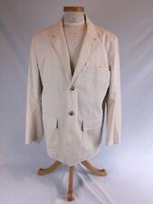 LUCIANO BARBERA Men's Cream Blazer Jacket Size Large