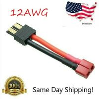 High Current Adapter: Deans Female to Traxxas Male 12AWG - T-Plug TRX ESC LiPo