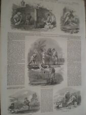 Sketches from the Turon gold fields New South Wales Australia 1852 prints ref AV