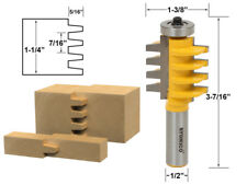 """1-1/4"""" Finger Joint Router Bit - 1/2"""" Shank - Yonico 15131"""
