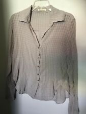 NWT Fresh Laundry Grey Button Blouse - Size XS