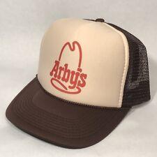 Vintage Style Arby's Trucker Hat Famous Roast Beef Sandwich Brown Snapback Cap