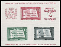 United Nations - New York #38 MNH S/S CV$50.00 UN Charter 10th Anniv