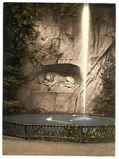 Lion Monument And Fountain Lucerne A4 Photo Print