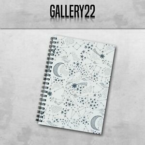 Moon, Stars And Constellations Notebook A5 Gift Stationery Notes Lists Writing