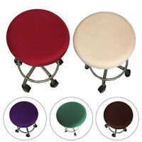 Solid Round Chair Cover Bar Stool Cover Elastic Seat Cover Home Chair Slipcover