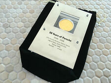 PORSCHE 50th ANNIVERSARY RACERS COIN PLAQUE LAGUNA SECA HISTORICS 1998 #359/450