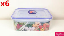 6x Set of 3 Multi-Purpose Plastic Container w/ Lid Food Storage Box Home Motel