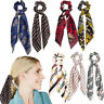 Long Tail Ribbon Hair Bands Ponytail Scarf Bow Elastic Hair Rope Tie Scrunchies